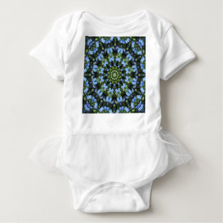 Forget-me-nots, Flower Mandala Baby Bodysuit