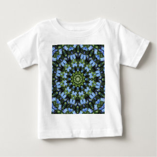 Forget-me-nots, Flower Mandala Baby T-Shirt