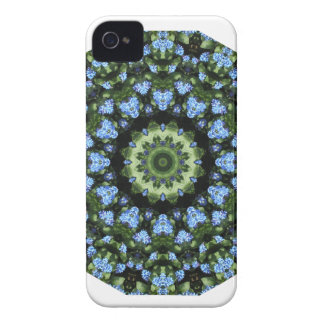 Forget-me-nots, Flower Mandala iPhone 4 Case-Mate Cases
