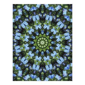 Forget-me-nots, Flower Mandala Letterhead