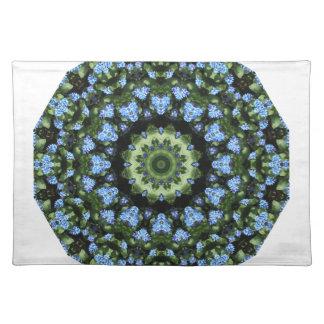 Forget-me-nots, Flower Mandala Placemat