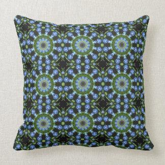Forget Me Nots, Forgetmenot, Nature Mandala Throw Pillow