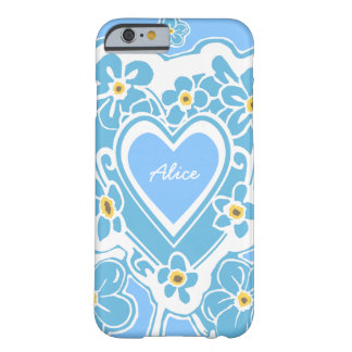 Forget-Me-Nots Heart Personalized iPhone 6/6s Case