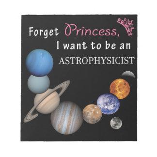 Forget Princess - Astrophysicist Notepad