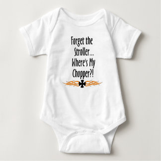 Forget Stroller...Where's My Chopper Baby Bodysuit