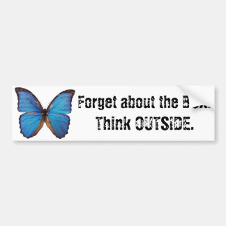 Forget the Box -Think Outside, Nature, Creativity Bumper Sticker
