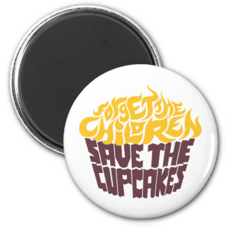 Forget the Children - Gold+Chocolate 2 Inch Round Magnet