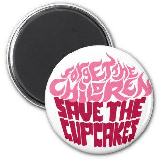 Forget the Children - Pink+Maroon 2 Inch Round Magnet