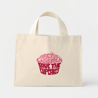 Forget the Children - Pink+Maroon Mini Tote Bag