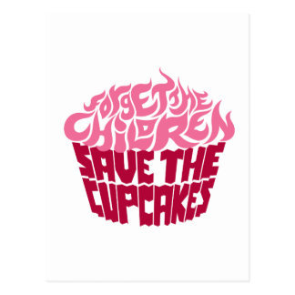 Forget the Children - Pink+Maroon Postcard