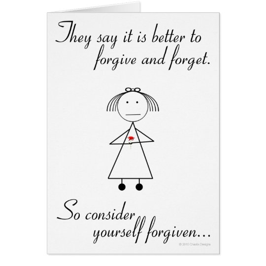Forgive and Forget Card