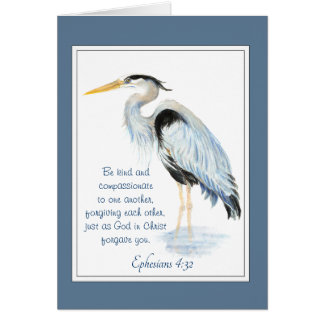 Forgive each other Bible Inspirational Quote Heron Card