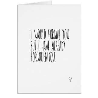 Forgive Forget Greeting Card