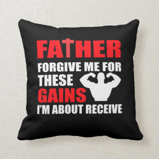 Forgive Gains Im Receive Bodybuilding Throw Pillow