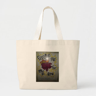 Forgive me for my sins large tote bag