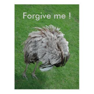 Forgive me ! postcard