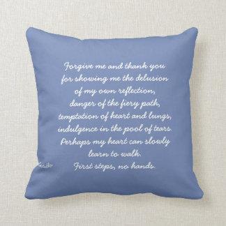 Forgive me throw pillow