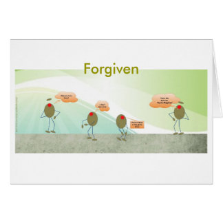 Forgiven Olives Greeting Card