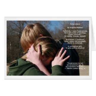 """Forgiveness"" affirmation note card (blank inside)"