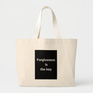 Forgiveness is the key large tote bag