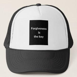 Forgiveness is the key trucker hat