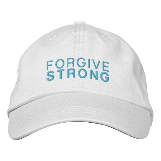 Forgivestrong White Adjustable Hat Embroidered Baseball Caps