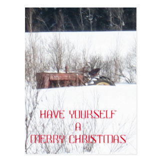 Forgotten Tractor Christmas Card