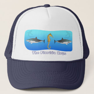 Forida Keys Shark and Seahorse Hat