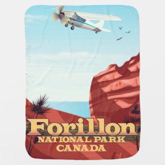 Forillon National Park, Canada travel poster Baby Blanket
