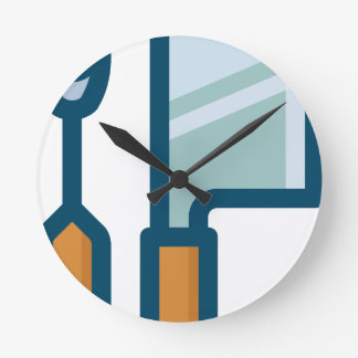 Fork and Cleaver Round Clock
