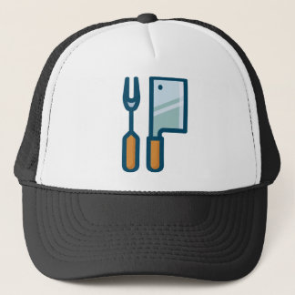 Fork and Cleaver Trucker Hat