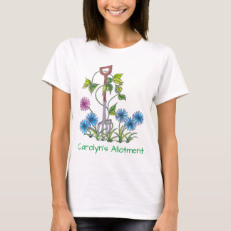 Fork and flowers with your name and text T-Shirt