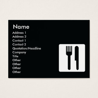 Fork and Knife - Chubby Business Card