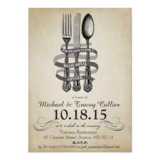 Fork and Knife Rehearsal Dinner Invitation