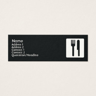 Fork and Knife - Skinny Mini Business Card