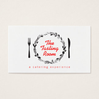 Fork and Knife Wreath Catering, Chef, Restaurant Business Card