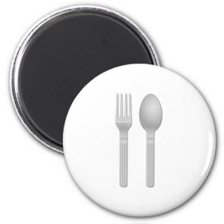 Fork and Spoon Refrigerator Magnets
