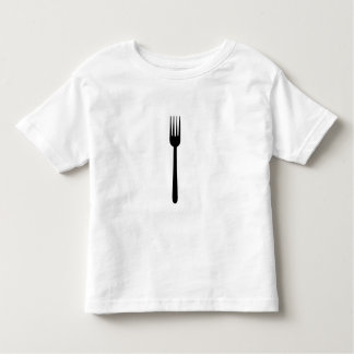 Fork Cutlery Silhouette Simple Art Foodie Love Eat Toddler T-shirt