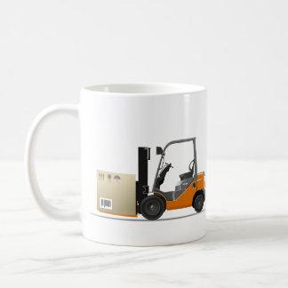 Fork elevator truck coffee mug