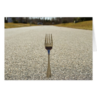 FORK IN THE ROAD - Path you take in Life Greeting Card
