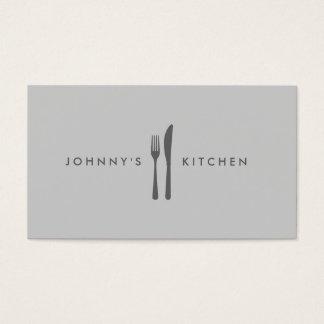 Fork & Knife Logo Kitchen/Restaurant/Cafe Business Card