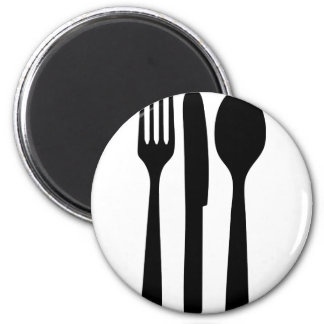 fork knife spoon icon magnets