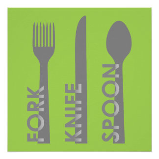 Fork Knife Spoon Poster