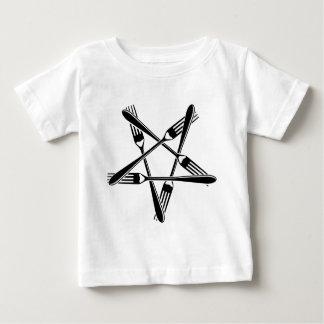 Fork Pentagram (black) Baby T-Shirt