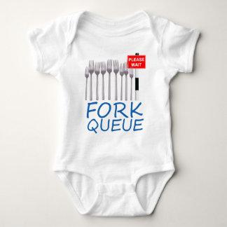 Fork Queue Baby Bodysuit