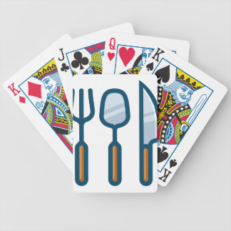 Fork Spoon and Knife Bicycle Playing Cards