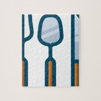Fork Spoon and Knife Jigsaw Puzzle