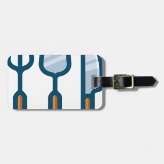 Fork Spoon and Knife Luggage Tag