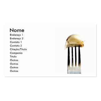 Fork with garlic business card template