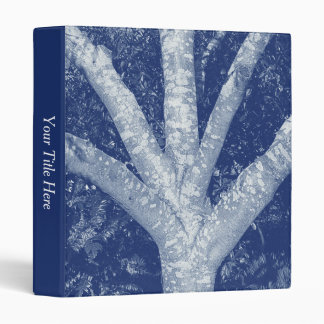 Forked Branches - Cyanotype Effect 3 Ring Binder